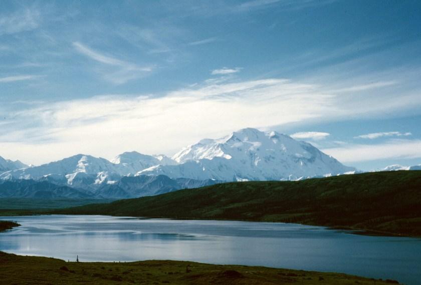 Mt. Denali/McKinley and Wonder Lake - see link https://en.wikipedia.org/wiki/Denali%E2%80%93Mount_McKinley_naming_dispute