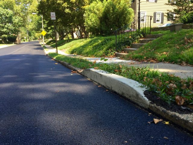 curb on the 400 block of Runnymede