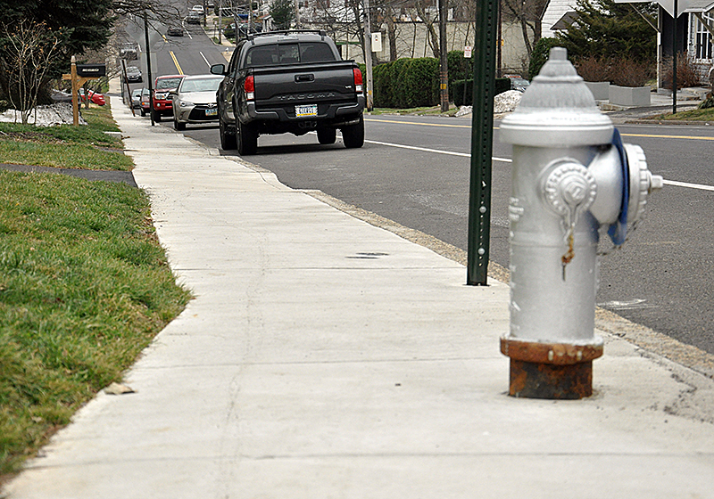 Rockwell Road in Abington Township features new sidewalks paid for by the municipality.