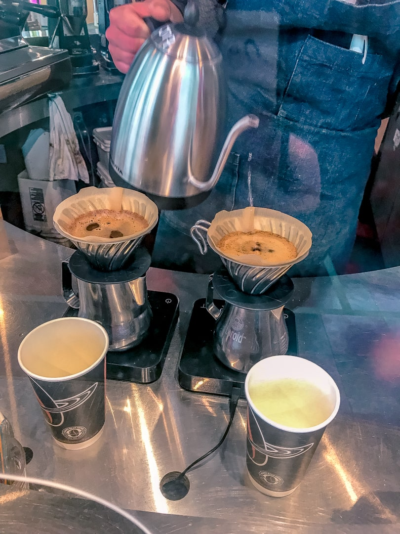 Single origins pour over coffee at Planet Bean in Guelph coffee shop