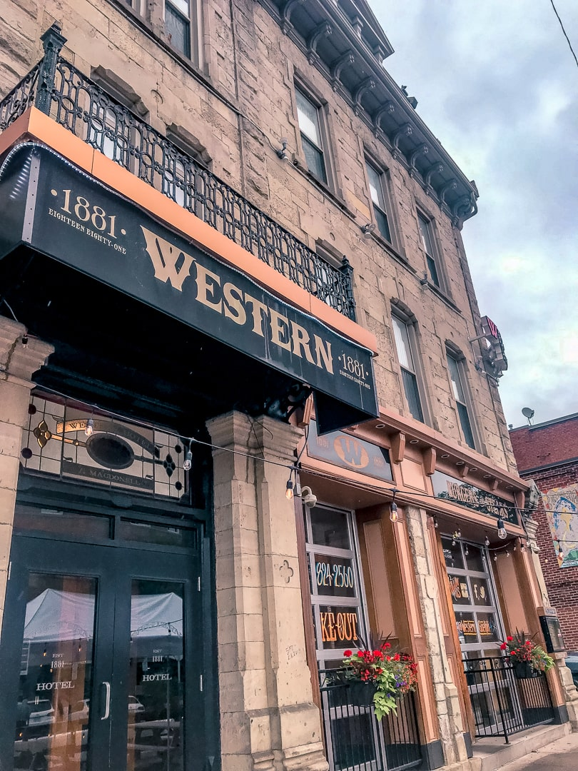 outside the Western hotel in guelph