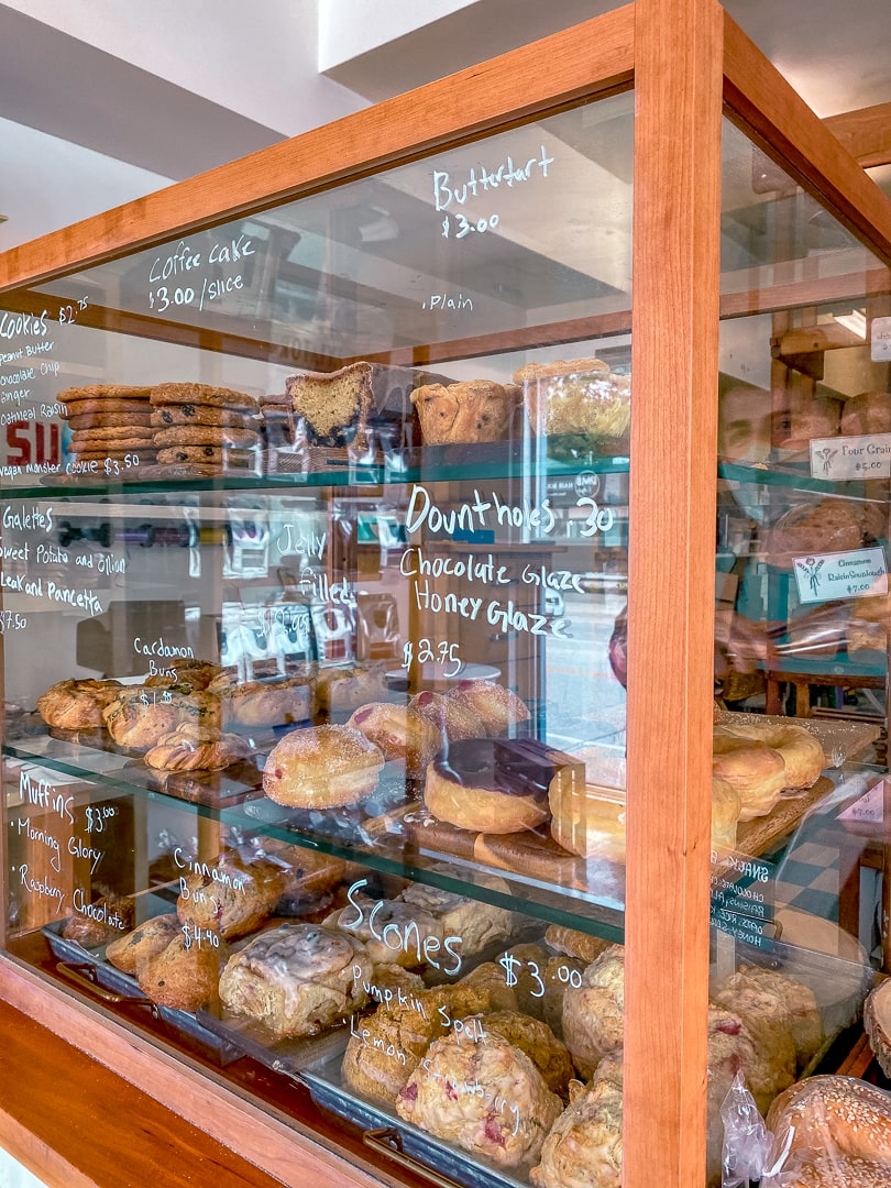 Bakery items from with the grain bakery in Guelph