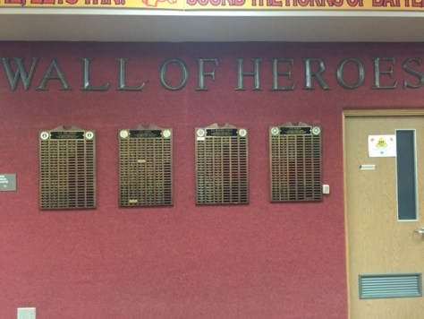 Brother on wall of heroes