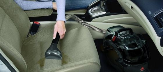 car vacuuming