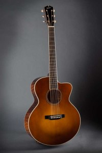 "Walker Guitars Style B Deluxe SJ cutaway with a ""Loar style"" Sunburst"