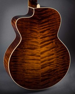 photo of Walker guitars curly maple back