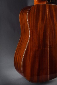 close up view of Kim Walker Style A Special Cuban mahogany