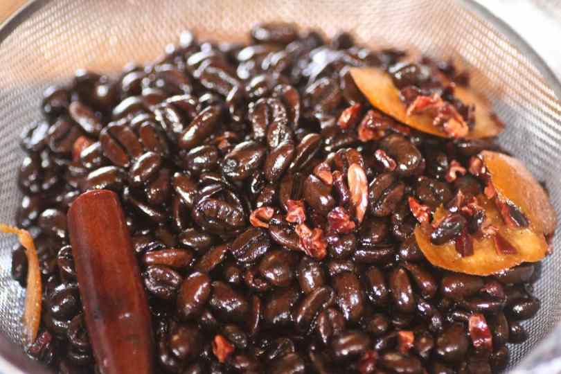Homemade Coffee Liqueur with Organc Free Trade Coffee Beans