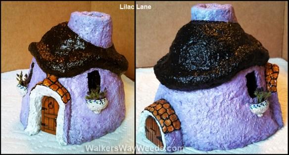 Papercrete Lilac Lane Fairy House