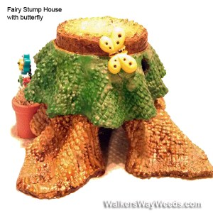Miniature Fairy Stump House-butterfly