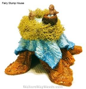 Miniature Fairy Stump houses