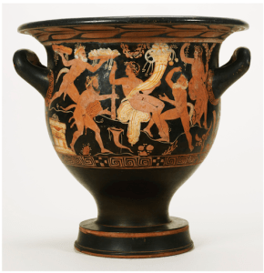 An Attic Red-Figured Bell Krater, attributed to the Erbach Painter, circa 400-380 B.C