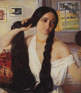Zinaida Serebriakova: Portrait of Olga Lancere 1910