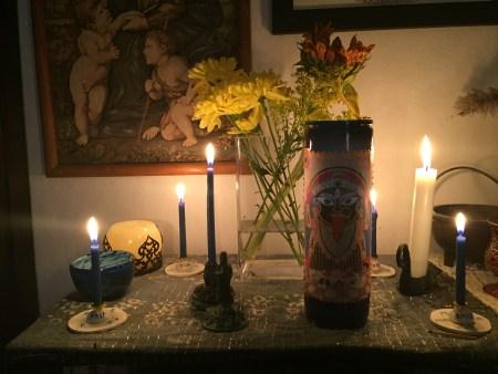 Community Altar Nov 2018 - Kuan Yin and Kali