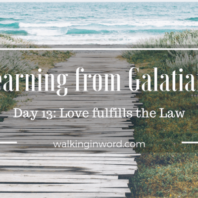 Love fulfills the Law