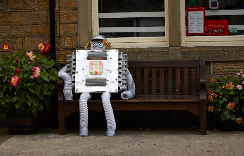 Robot Scarecrow at Kettlewell Scarecrow Festival