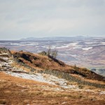 Patchy snow over Burley and Ilkey Moor