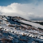 Panorama of Burley Moor in the snow
