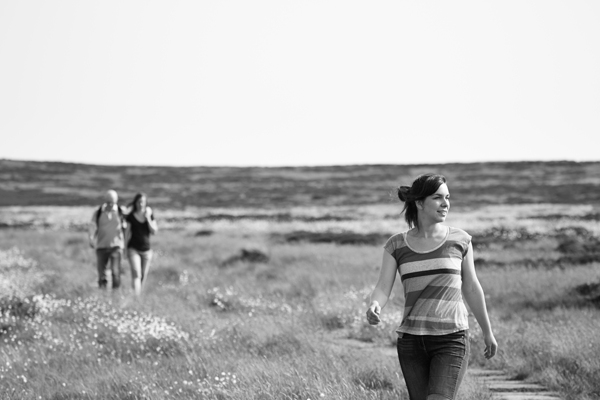 Walking with friends on Ilkley moor