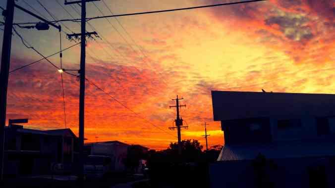 The sunset on my way home tonight