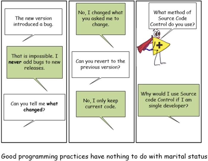 Good programming practices have nothing to do with marital status.