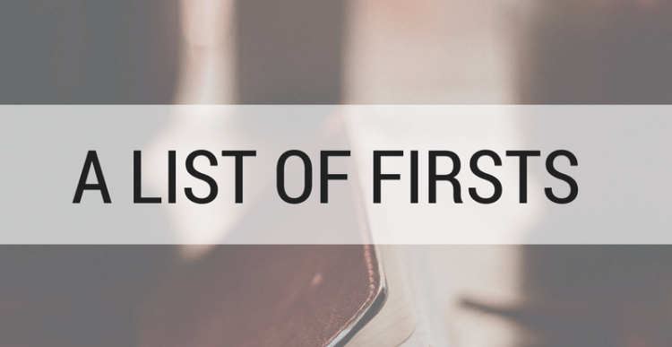 A list of firsts