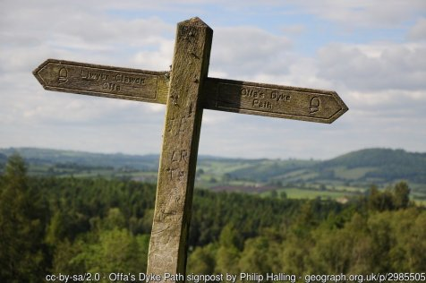 Offa's Dyke from Trefynwy / Monmouth to Pandy