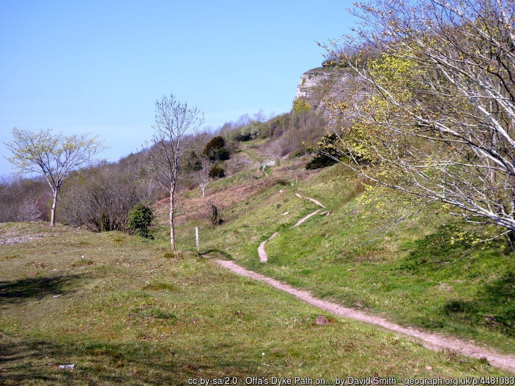 Offa's Dyke from Llanymynech to Chirk Mill