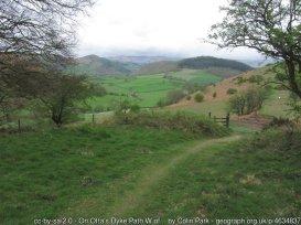 Offa's Dyke from Kingtonto Knighton/Tref-y-Clawdd