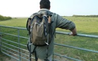 Walking with my Craghoppers Walking Poles Walberswick Suffolk April 2011