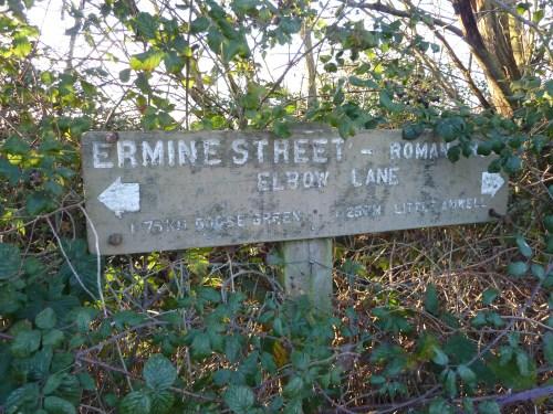 Hertfordshire Walks Hertford Heath Walking Route Ermine Street Roman Road