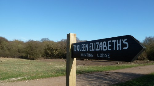 Walks And Walking - Essex Walks Epping Forest Favourite Family Walking Route - Queen Elizabeths Hunting Lodge Signpost