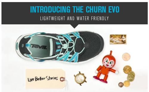 Walks And Walking - TEVA Churn Evo Lightweight Water Friendly Walking Shoes