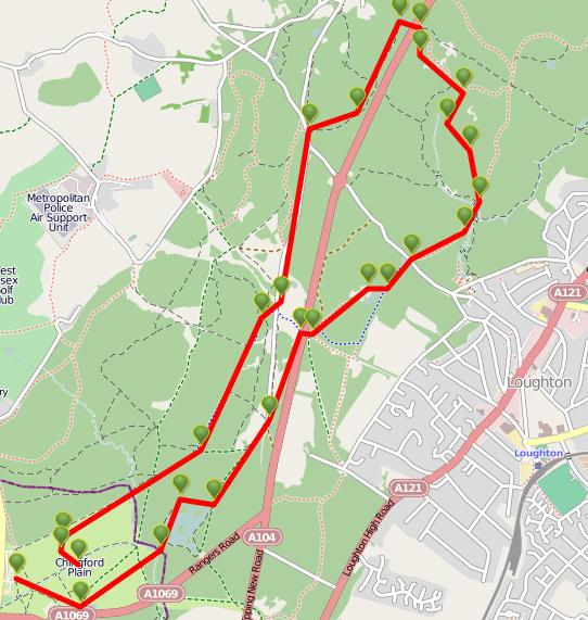 Walks And Walking – Essex Walks Epping Forest Family Walking Route Map