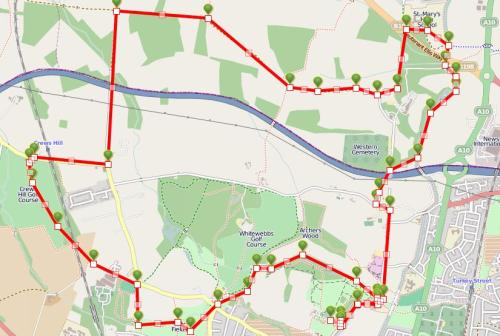 Walks And Walking – Hertfordshire Walks Forty Hall Enfield Walking Route Map