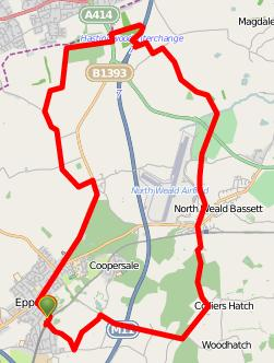 Walks And Walking - Essex Walks Epping Forest District Walking Route Map