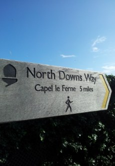 Walks And Walking - Kent Walks Dover to Folkestone Walking Route - The North Downs Way Capel Le Ferne