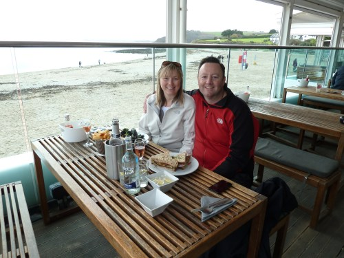 Walks And Walking - Cornwall Walks Pendennis Castle Falmouth Walking Route - lunch at Gylly Beach Cafe