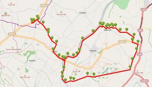 Walks And Walking - Cotswolds Walks Deerhurst Walking Route Map