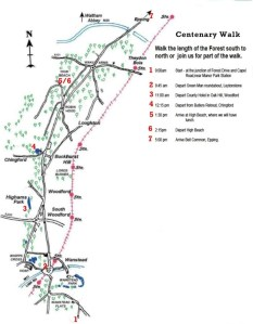 The Annual Epping Forest Centenary Walk - Friends Of Epping Forest Centenary Walk Map