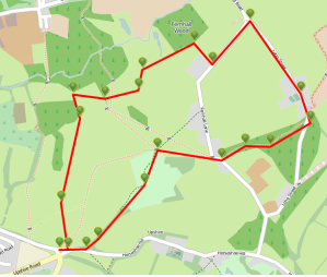 Walks And Walking - Essex Walks Epping Forest Warlies Walking Route Map
