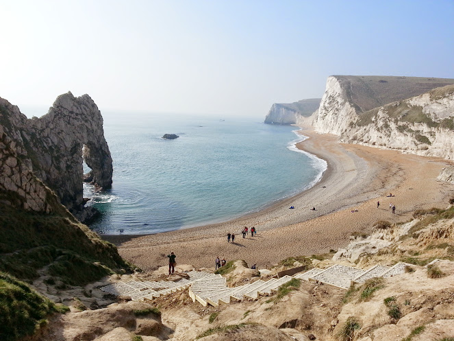 Durdle Door on the South West Coast Path on the Jurassic Coast Dorset