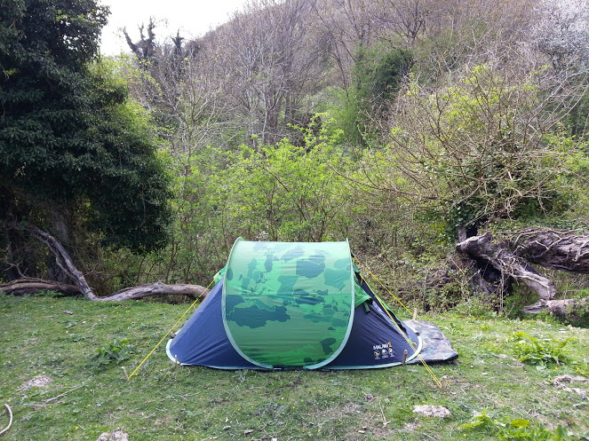 Regatta Malawi 2 Man Pop-Up Tent from Outdoor Camping Direct - Side