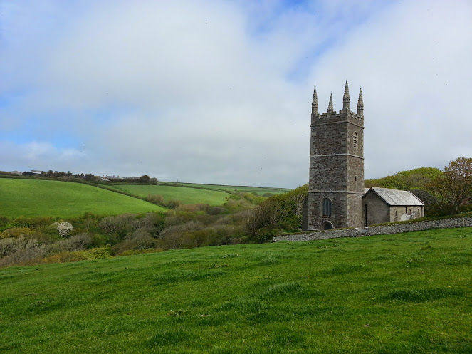 Walks And Walking - Morwenstow Walk In Cornwall - Back to Morwenstow Church