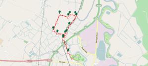 Walks And Walking - Sandwich Walk in Kent Map