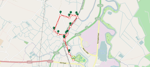 Walks And Walking - Sandwich Walk in Kent Map