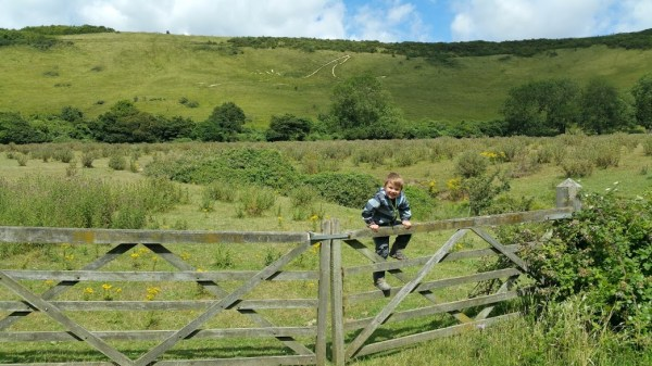 Walks And Walking - Paddlesworth Walk In Kent - Tedi And The Folkestone White Horse