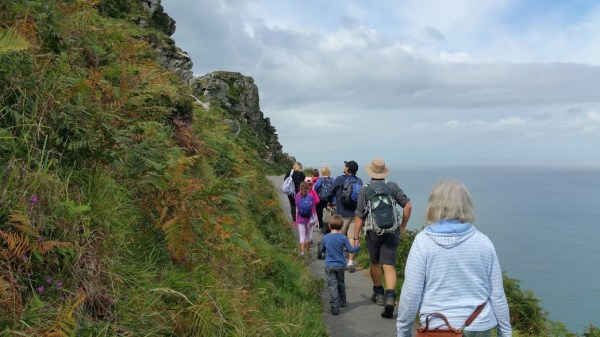 HF Holidays 4 Mile Family Circular Walk In Lynmouth - Valley of Rocks