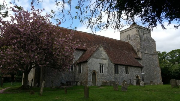 Walks And Walking - Bishopsbourne Walk In Kent - Bishopsbourne Church