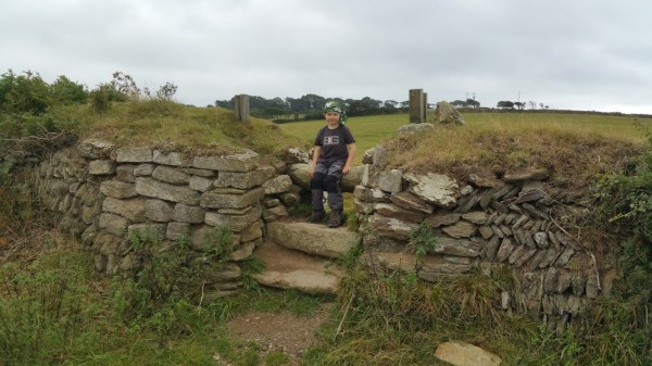 Walks And Walking - Par Sands Walk In Cornwall - The Saints Way - Stone Stile